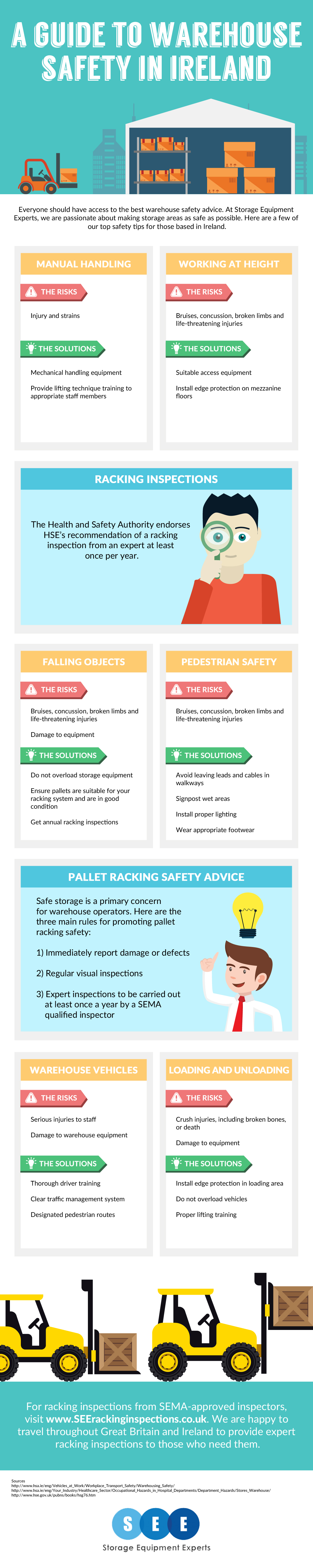 Warehouse safety in Ireland infographic