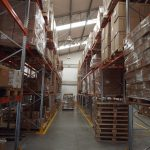 warehouse racking with stock